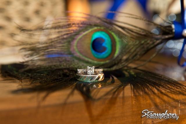 Kristan's wedding Bella Springs Boerne rings