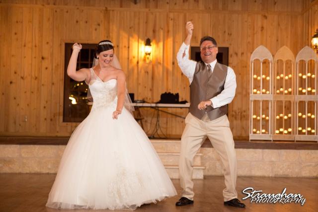 Kristan's wedding Bella Springs Boerne dad dance