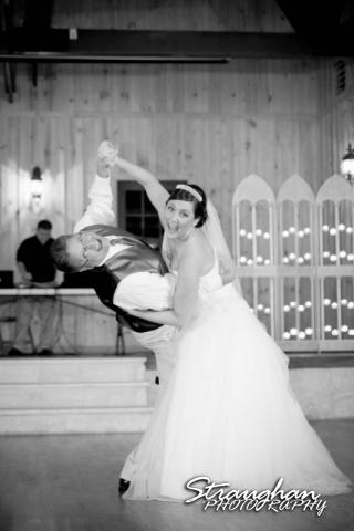 Kristan's wedding Bella Springs Boerne dad dip