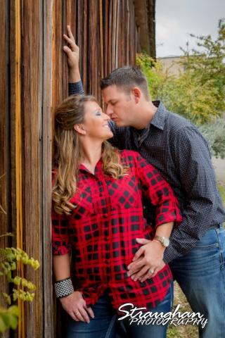 Leeann engagement Gruene nose kiss