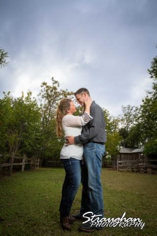 Leeann engagement Gruene cloudy kiss