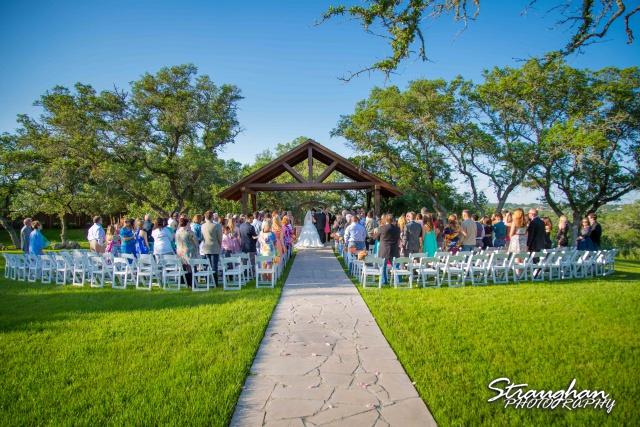 LeeAnn's wedding Boulder Springs back view