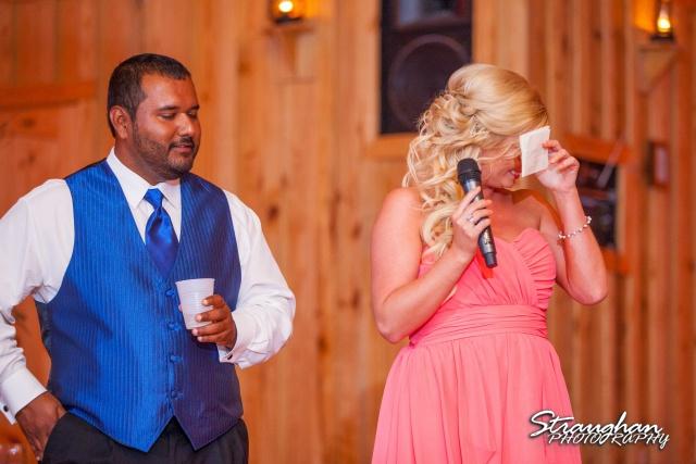 LeeAnn's wedding Boulder Springs  MOH toast