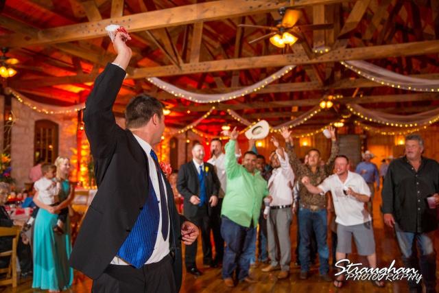 LeeAnn's wedding Boulder Springs garter toss