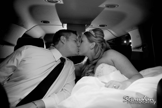 LeeAnn's wedding Boulder Springs in the car