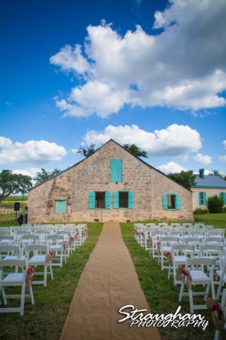 1850 Settlement wedding setup Lauren