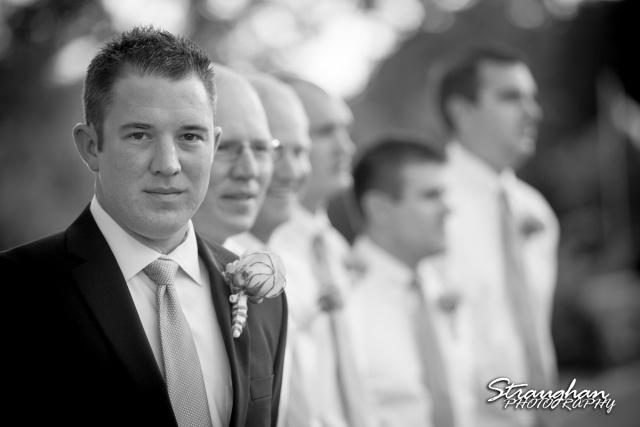 1850 Settlement wedding groom black and white