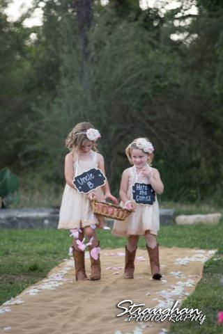 1850 Settlement wedding little girls Lauren