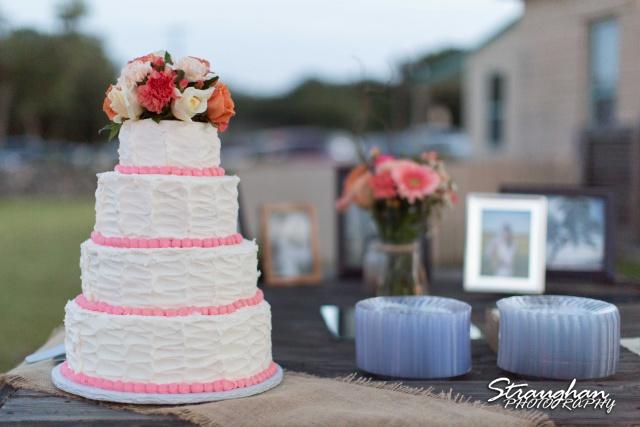 Lauren's cake at the 1850 Settlement wedding