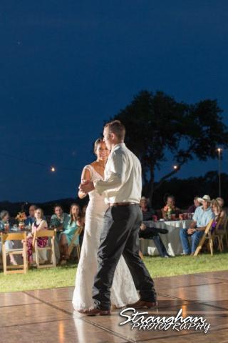 Lauren's first dance at the 1850 Settlement wedding