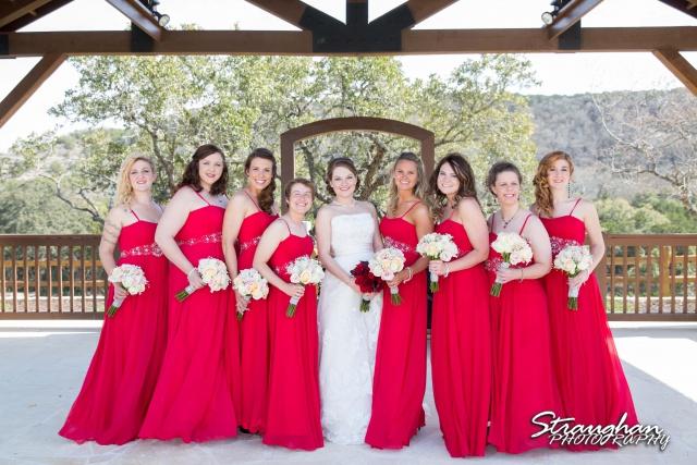 Logan's wedding Bella Springs Boerne TX the girls