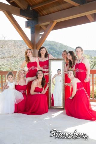 Logan's wedding Bella Springs Boerne TX mirror