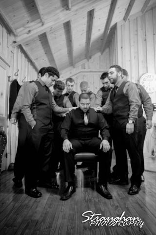 Logan's wedding Bella Springs Boerne TX guys prayer