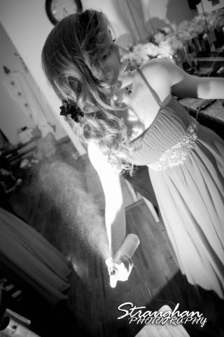 Logan's wedding Bella Springs Boerne TX hairspray