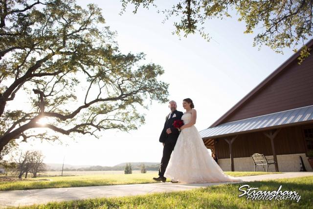 Logan's wedding Bella Springs Boerne TX bride down the asile