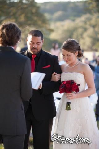 Logan's wedding Bella Springs Boerne TX couple prayer