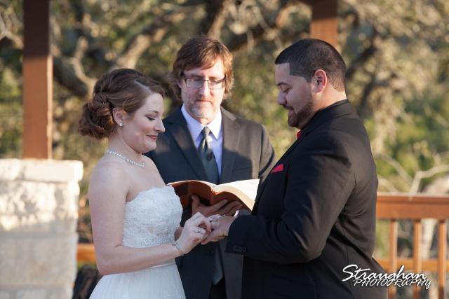 Logan's wedding Bella Springs Boerne TX ring exchange