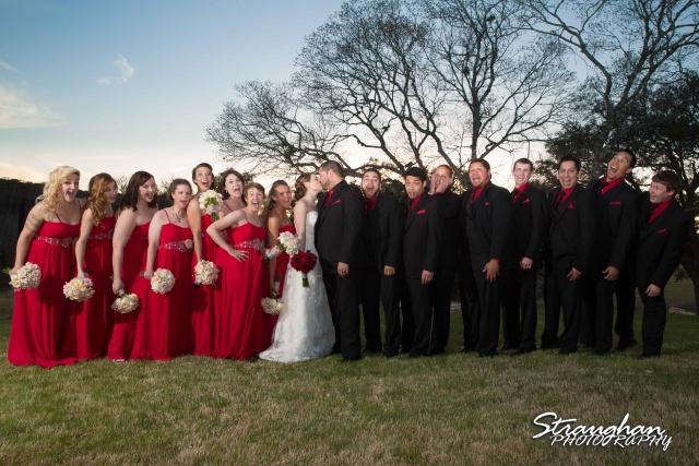 Logan's wedding Bella Springs Boerne TX bridal party