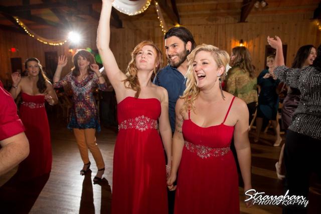 Logan's wedding Bella Springs Boerne TX girls dancing