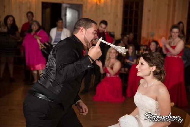 Logan's wedding Bella Springs Boerne TX garter