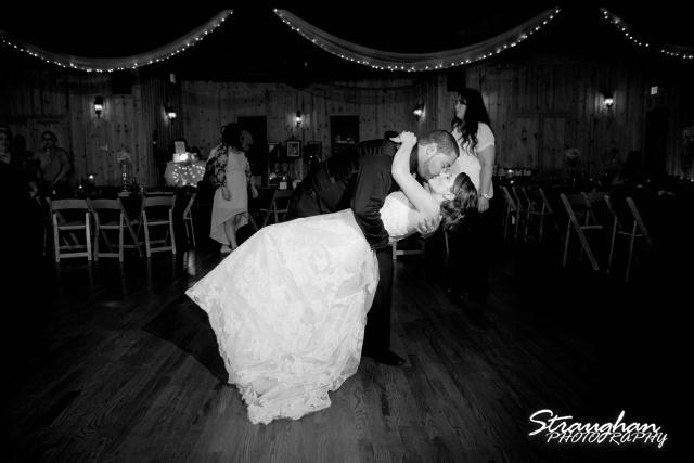Logan's wedding Bella Springs Boerne TX final dip