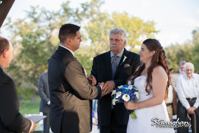 Lacey wedding Boulder Springs Legacy Hall dad giving away daughter