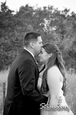 Lacey wedding Boulder Springs Legacy Hall the couple black white