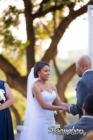 Liris and Dell's Wedding at The Club at Sonterra, happy bride