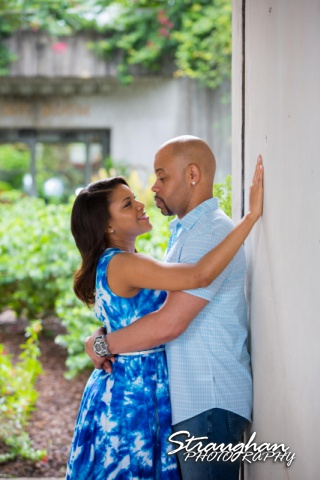 Liris and Dell's Engagement Session at the San Antonio Botanical Garden, San TX