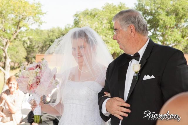 Kelly wedding Boulder springs with dad