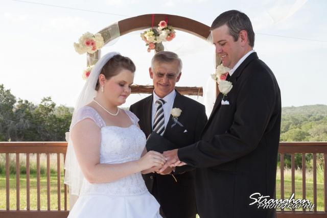 Kelly wedding Boulder springs ring exchange