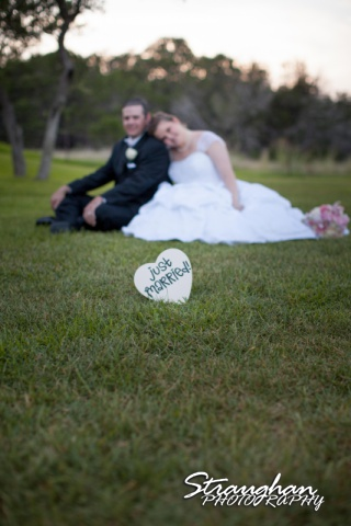 Kelly wedding Boulder springs just married grass