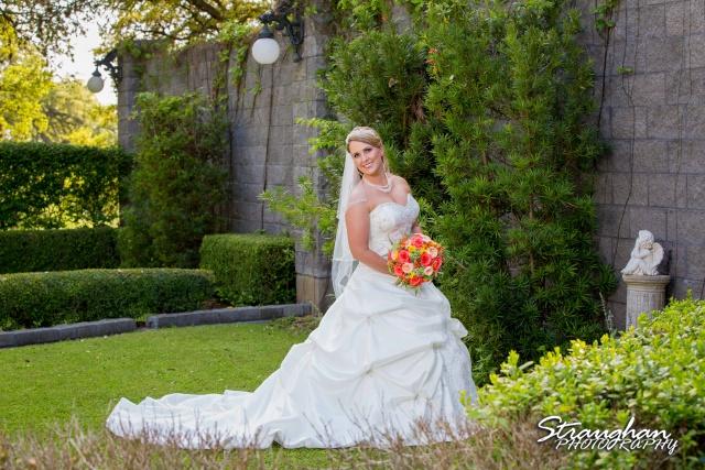 LeeAnn's bridal Castle avalon in the garden