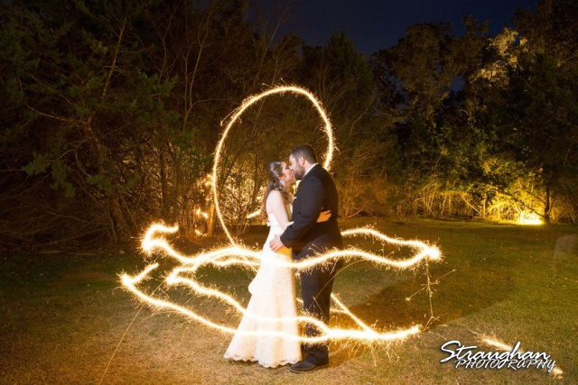 Sparklers bride and groom 1