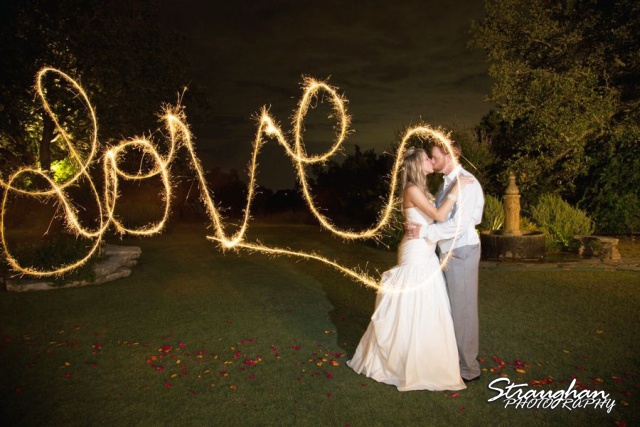 Sparklers bride and groom love