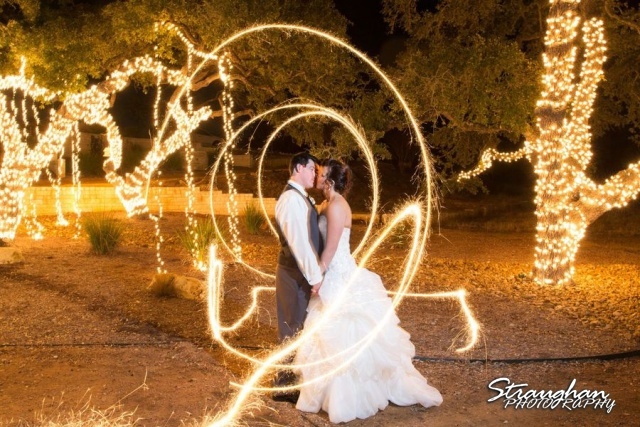 Sparklers bride and groom 3