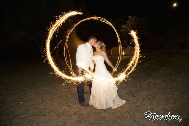 Sparklers bride and groom 4
