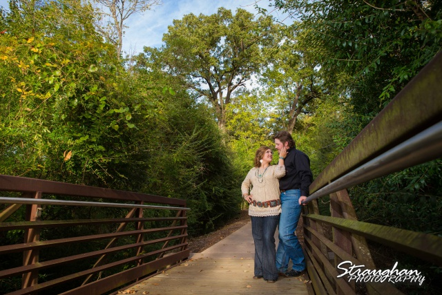 Lauren and Micah engagement Texas A&M on the bridge