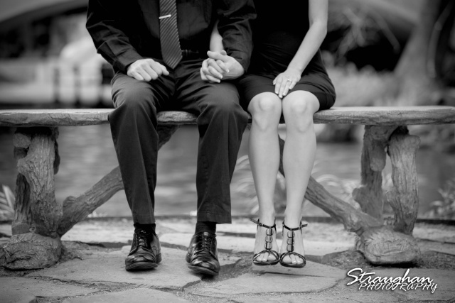 Laura and Ryan engagement downtown San Antonio feet