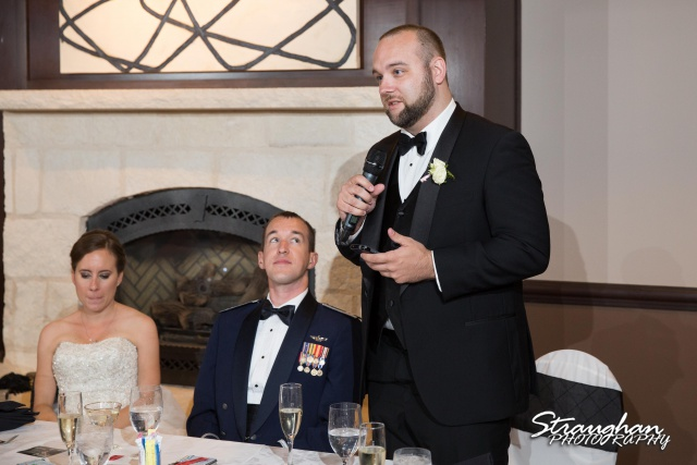 Laura wedding Hotel Contessa toast best man