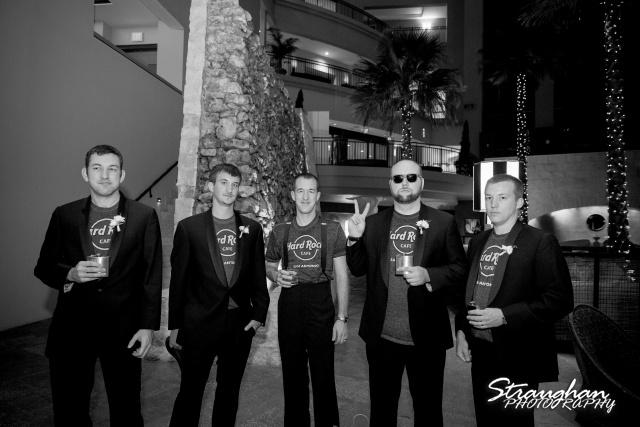 Laura wedding Hotel Contessa cool guys
