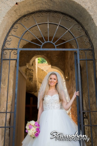 Michelle A bridal Mission Concepcion arch