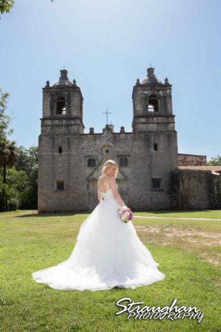 Michelle A bridal Mission Concepcion Mission front