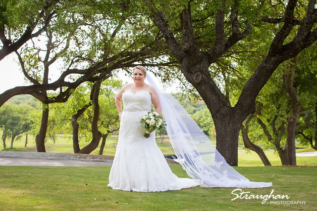Megan Cole Bridal Club at Sonterra in the treed area