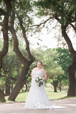 Megan Cole Bridal Club at Sonterra on the path