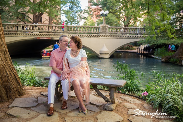 Cameron engagement on the riverwalk marriage island