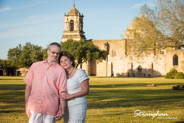 Cameron engagement mission San Jose Mission behind