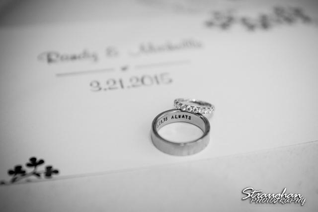 Michelle wedding Houston Ousie's rings