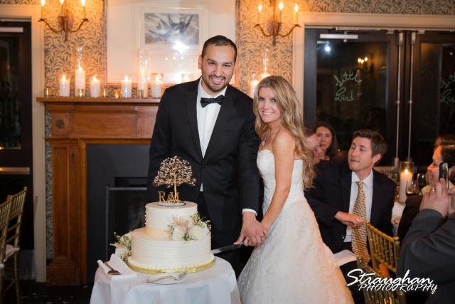Michelle wedding Houston Ousie's cake cutting