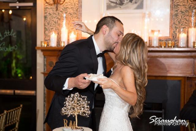 Michelle wedding Houston Ousie's cake kiss